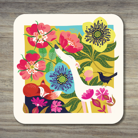 A Dog Rose coaster by Rollerdog