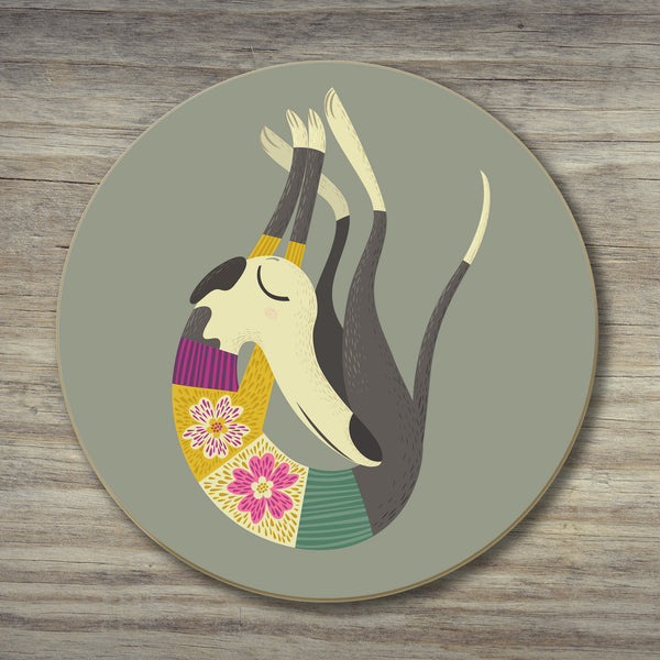A Fred the whippet coaster by Rollerdog
