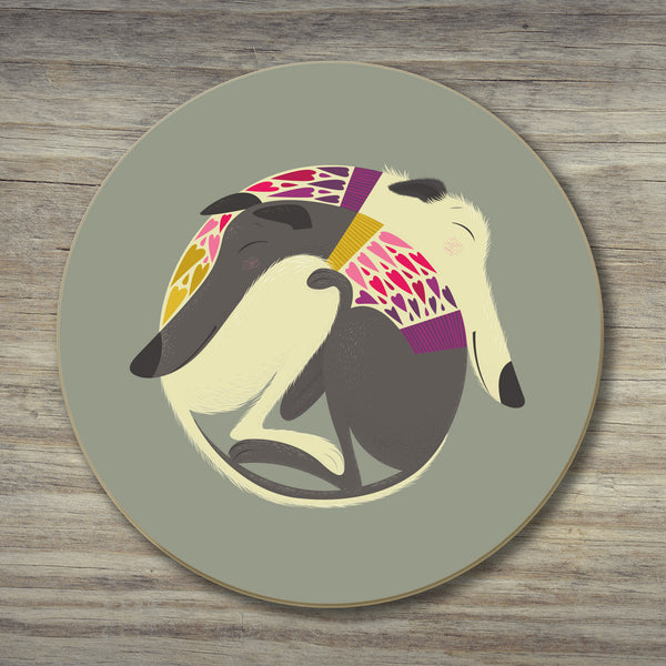 A Mabel & Olive coaster by Rollerdog
