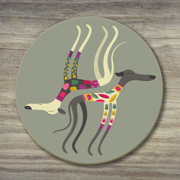 A Sleepy Sighthounds coaster by Rollerdog