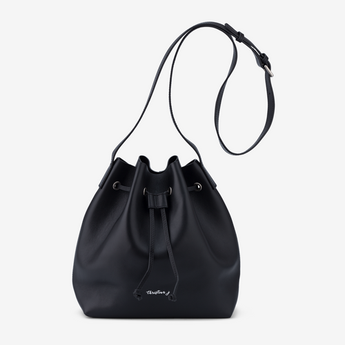Black Large Bucket Bag