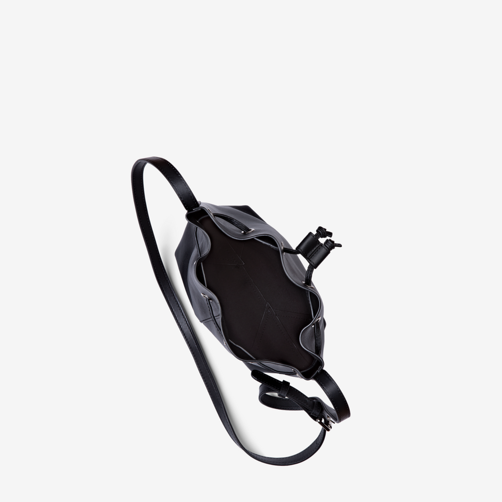 Black Mini Bucket Bag
