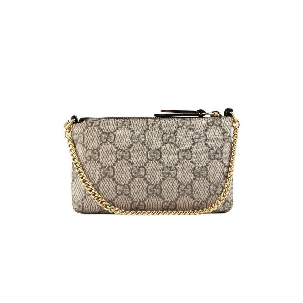 3addcab3e1749e Gucci GG Supreme Canvas and Leather Mini Chain Bag – Christina J