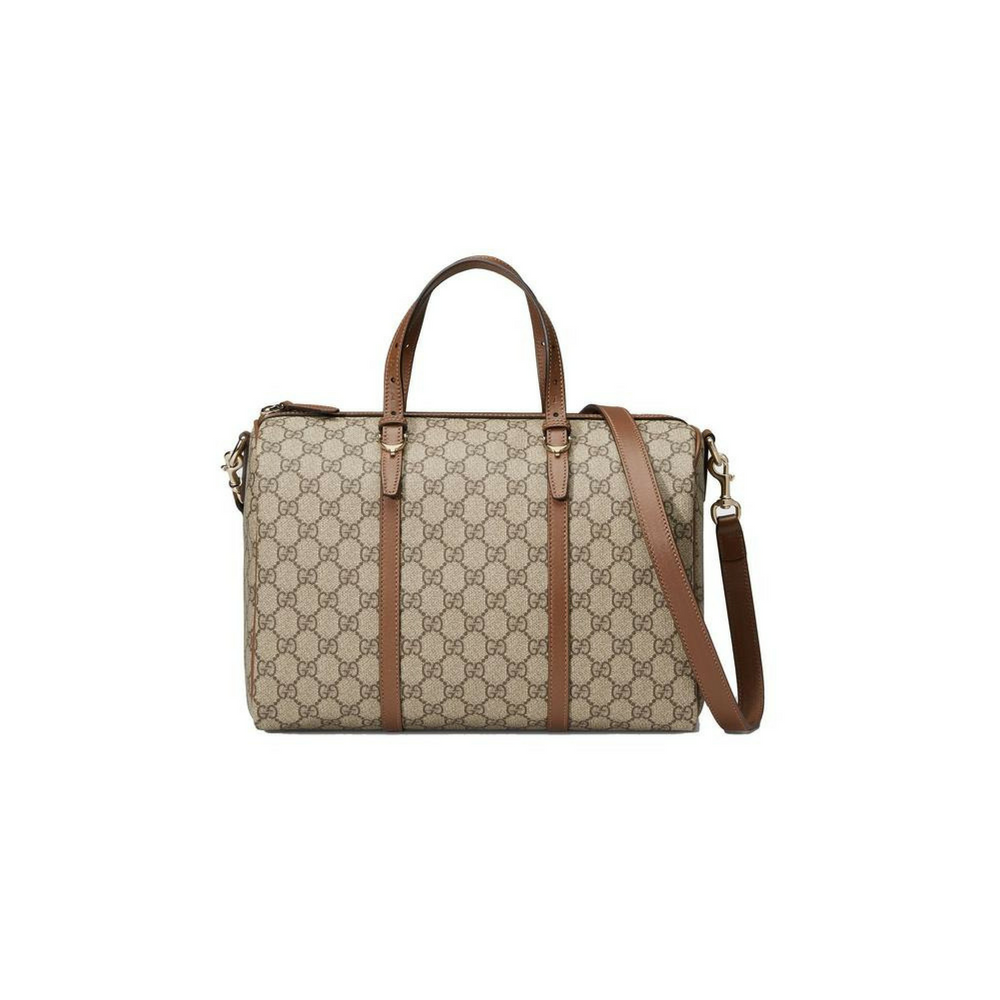 64c27a1034ba Gucci Gg Supreme Handbag 2-way Boston Beige Satchel – Christina J