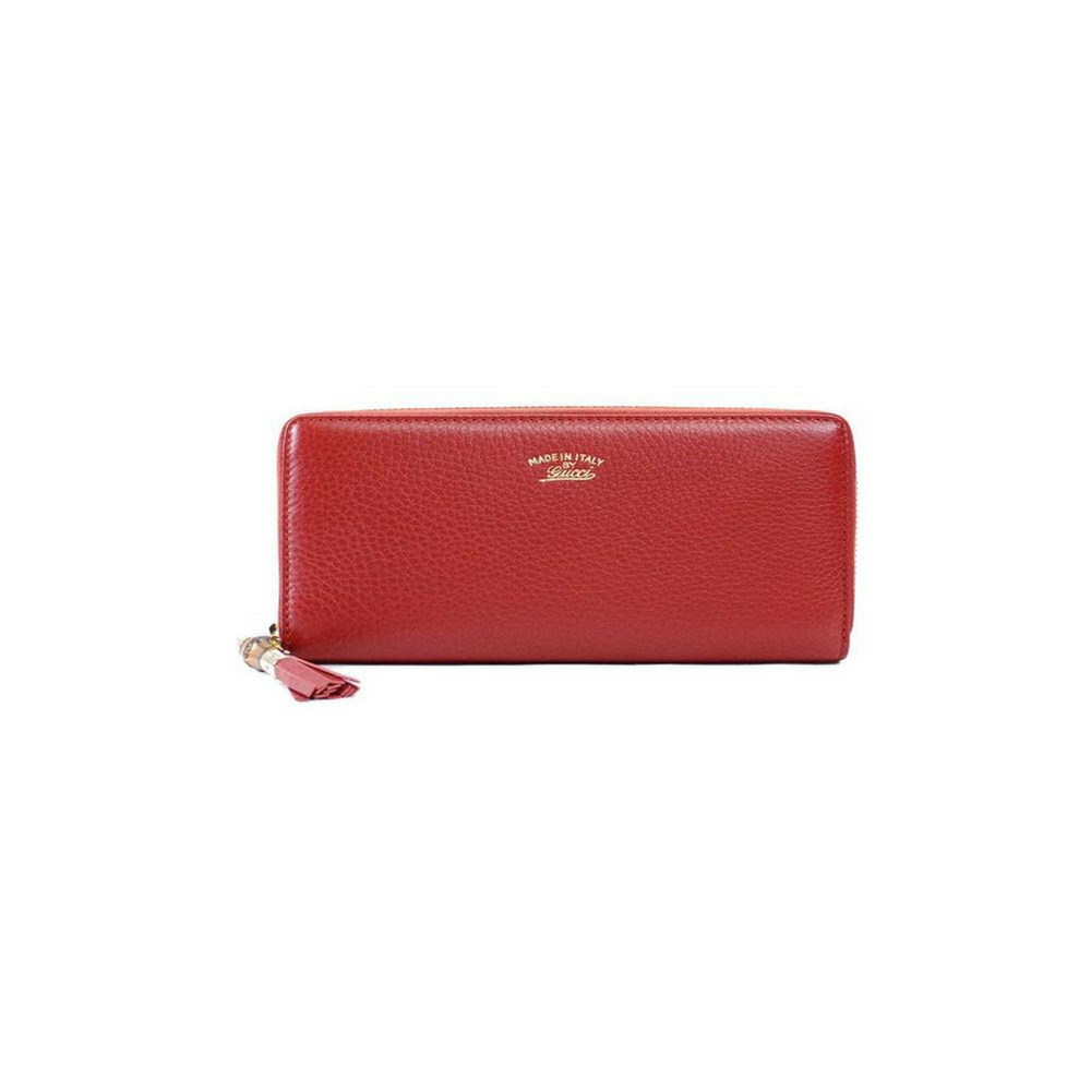 8b454997c381dc Gucci Women's Bamboo Tassel Leather Wallet - Red – Christina J