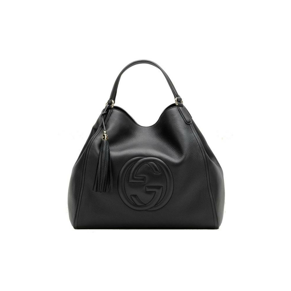 560b115b885f Gucci Women's Soho Medium Black Leather Shoulder Handbag – Christina J