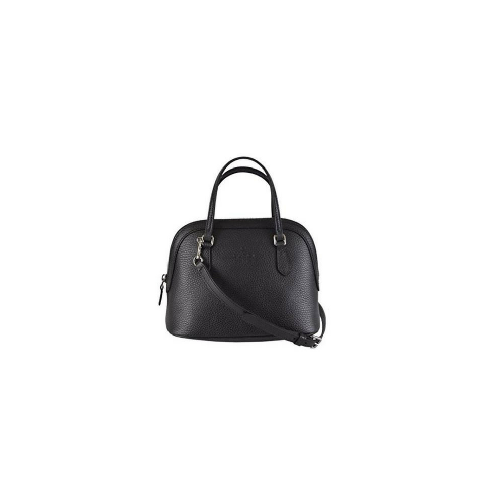 Gucci Women's Leather Convertible Medium Dome Black Shoulder Bag