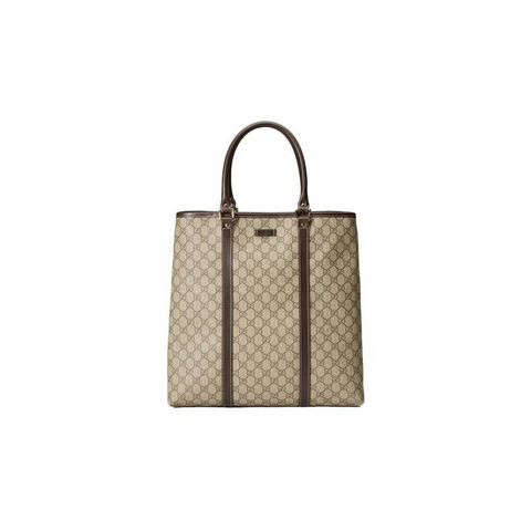 Gucci Gg Supreme Handbag 2-way Boston Beige Satchel