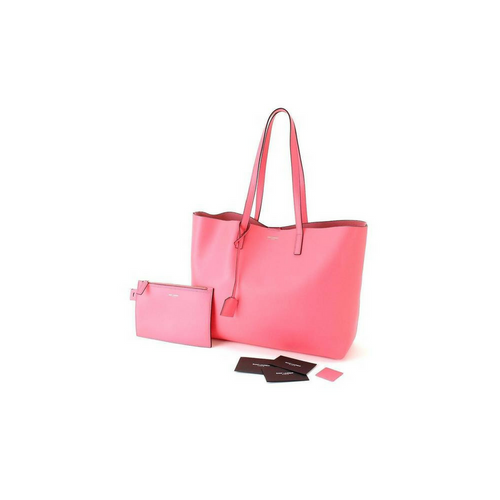 Saint Laurent YSL Women's Large Leather Shopping Tote Bag - Pink