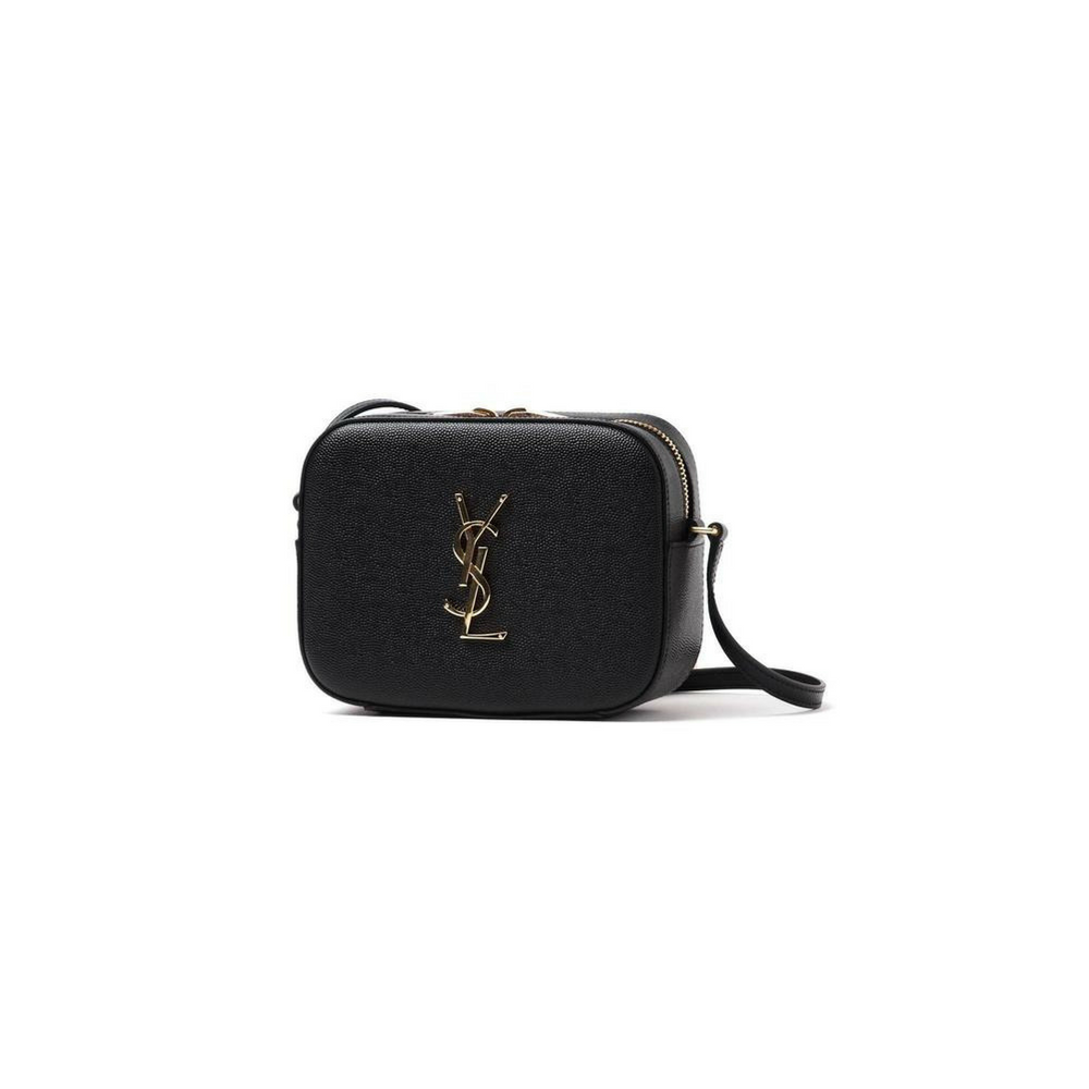 Saint Laurent Ysl Textured Leather Gold Ysl Monogram Camera Black Cross  Body Bag 0a18fd819f6f8