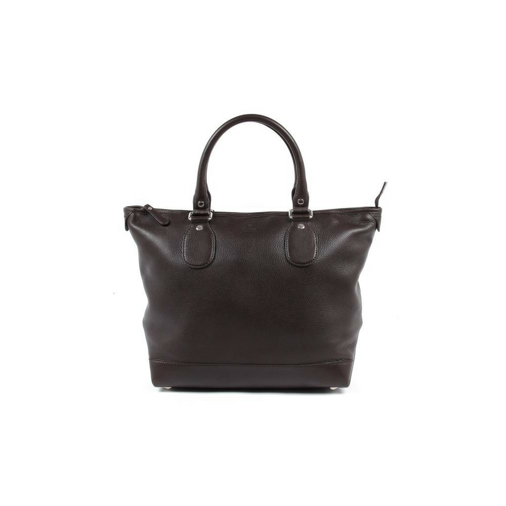 Gucci Womens Tote Soft Calf - Dark Brown