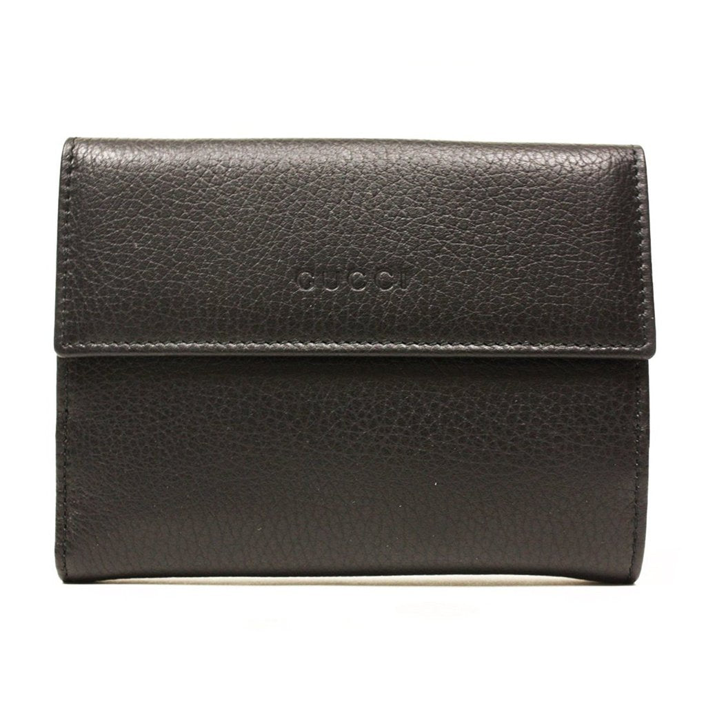 Gucci Women's Folio Black Leather Wallet