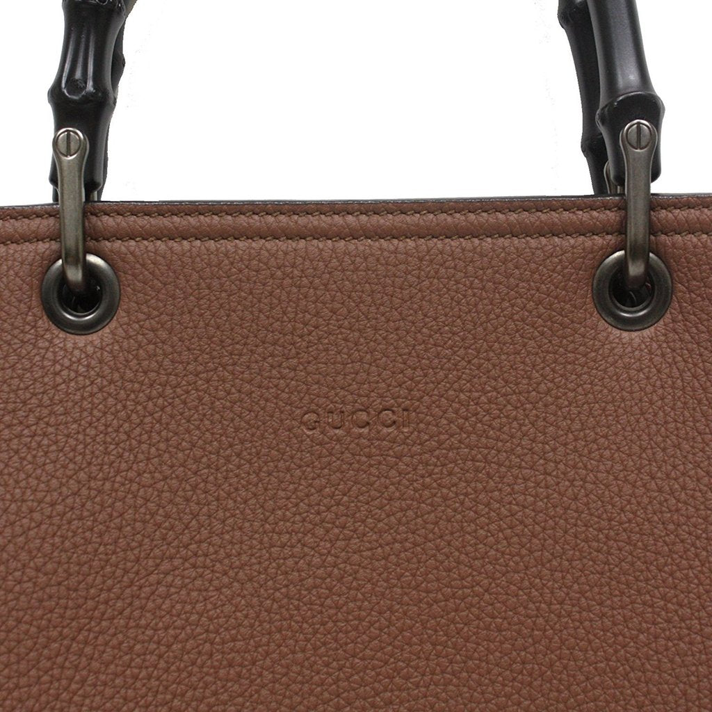 83ba0682e37 Gucci Bamboo Shopper Tote Bag Large with Shoulder Strap Brown ...