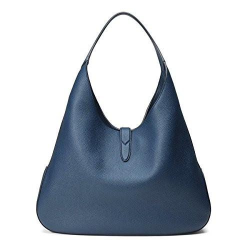 Gucci Jackie Soft Leather Hobo Shoulder Bag Classic Blue