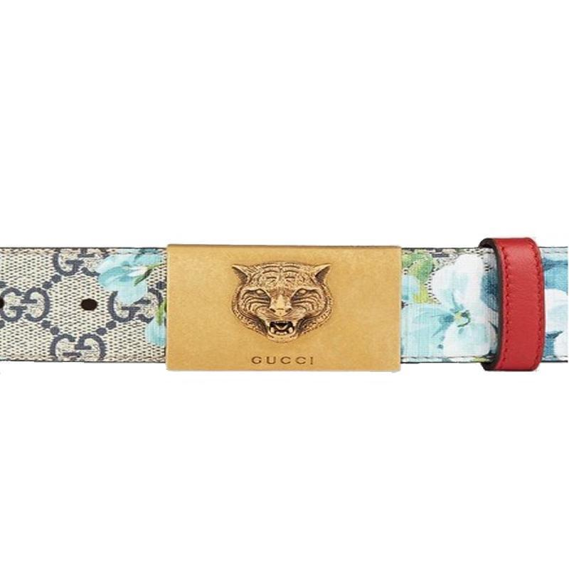 d27f9cddc91 Gucci Women s Blooms Red Leather Gold Lion Buckle Belt – Christina J