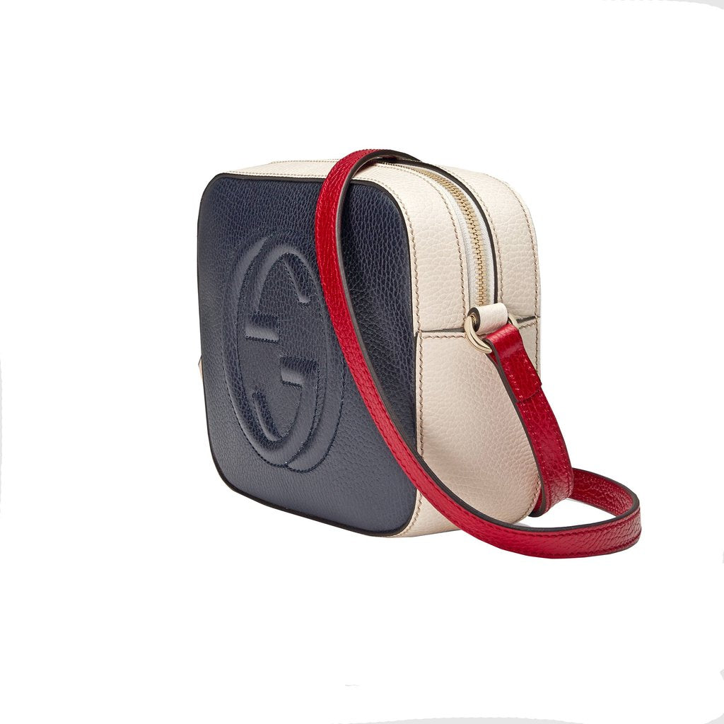 Gucci Women's GG Soho Leather Crossbody - Red/White/Blue