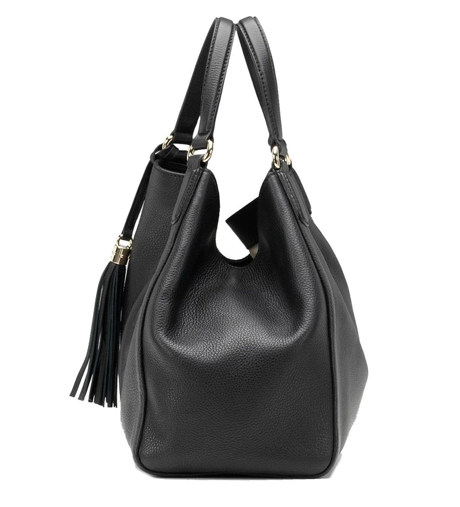 Gucci Women's Soho Medium Black Leather Shoulder Handbag