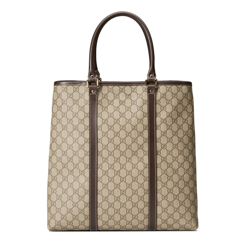 NEW Gucci GG Supreme Canvas Plus Tote Bag Beige/Brown