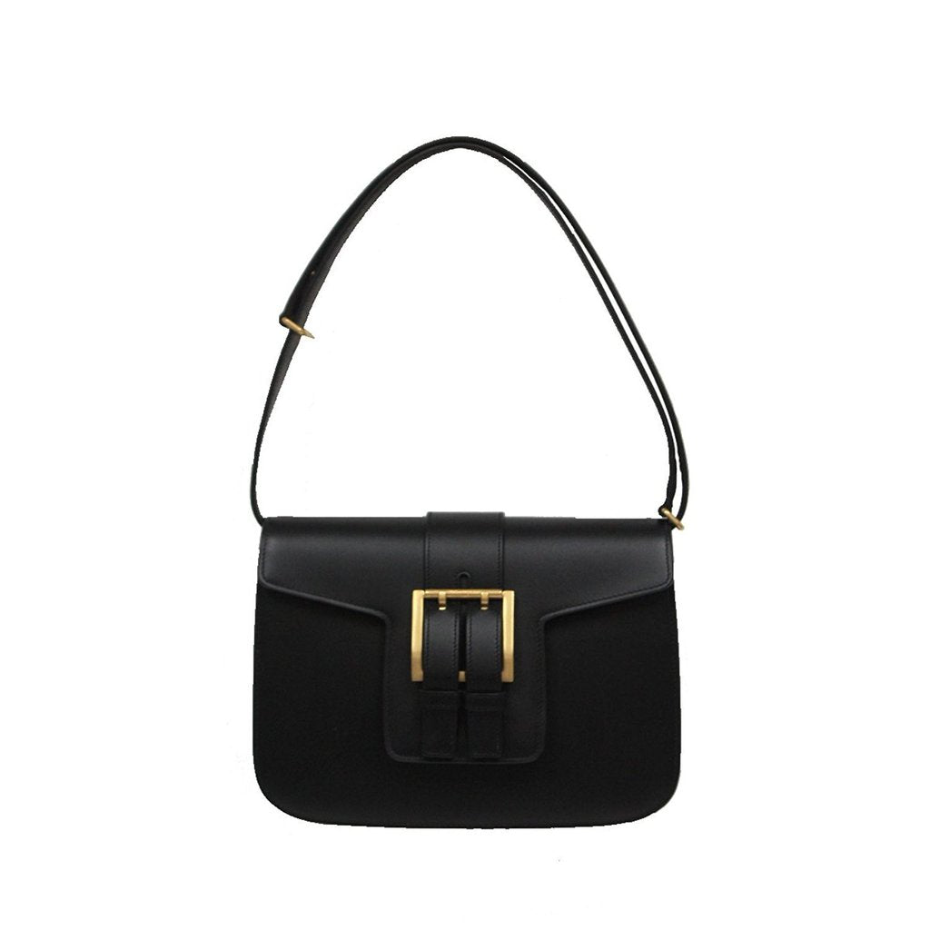 Saint Laurent Women's Nico Leather Satchel Shoulder Handbag Black