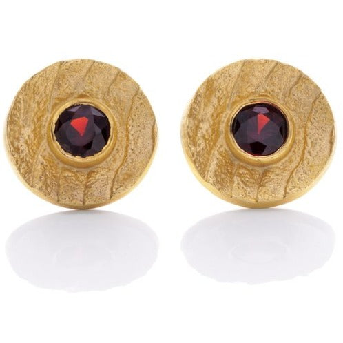 Pyrope Studs Earrings - INONGE ZITA