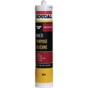 Multi-Purpose Sealant, Tube 270 ml, Soudal Silicone