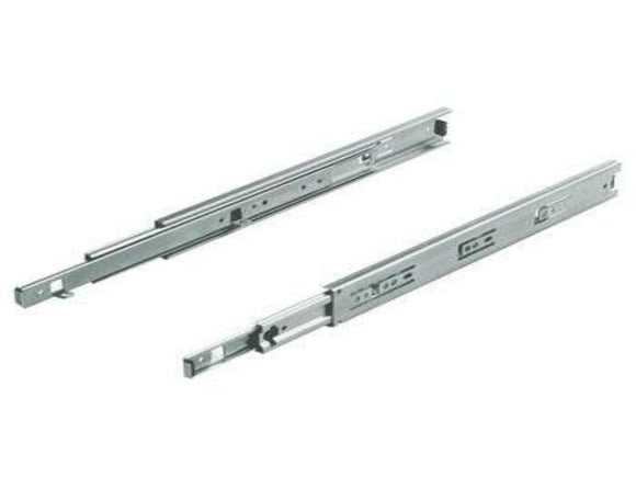 Ball bearing runners, full extension, load-bearing capacity up to 30 kg