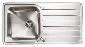 Abbey Stainless Steel Single Bowl and Drainer