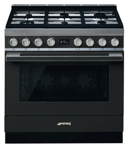 Smeg Portofino Single Cavity Pyrolytic Multifunction Dual Fuel Cooker