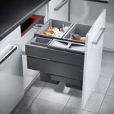 Hailo Euro-Cargo Pull Out Waste Bin - Light Grey