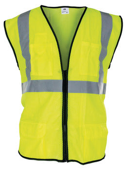 Protective Clothing, Waistcoat, Velcro Fastening, Hi Vis