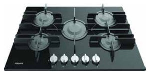 DIRECT FLAME 75CM GAS ON GLASS HOB - HGHD7550
