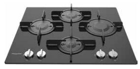 DIRECT FLAME 60CM GAS ON GLASS HOB - HGHD6040