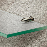 Glass shelf support, screw fixing, for 5-7 mm shelf thickness
