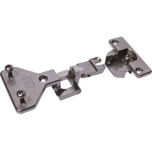 Aximat 100 180º centre hinge with exposed axle, screw fixing