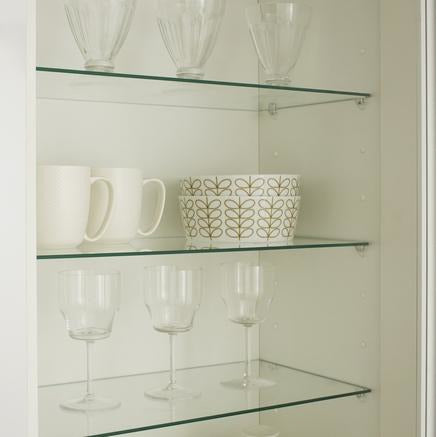 6mm Glass Polished Edge Shelves