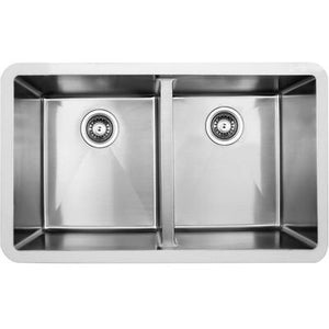 Edge double bowl undermount sink