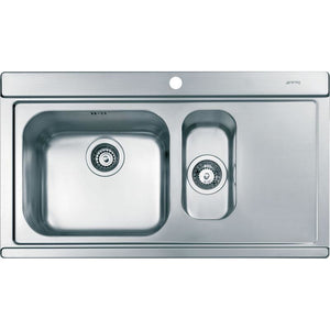 SMEG Iris 1 1/2 bowl sink with drainer