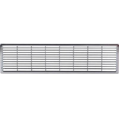 Ventilation grill, 230 x 68 mm, for recess mounting
