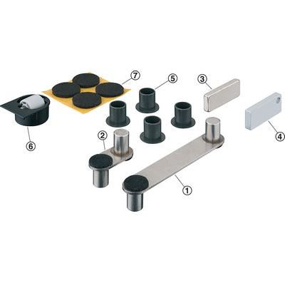 Table top swivel fitting set