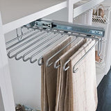 Pull-out trouser holder, under mounted, centre fitting