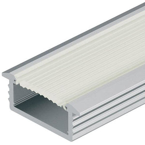 Loox aluminium profile, 6.5 mm depth, for Loox LED flexible strip lights, recess mounting