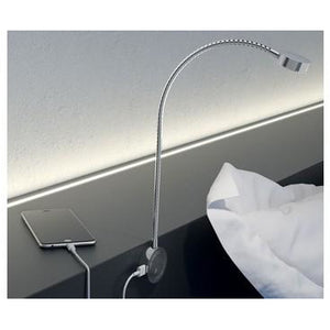 Loox 12V LED 2034 flexible reading light with USB