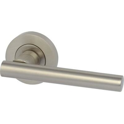VARTHEN lever handles on rose, zinc alloy