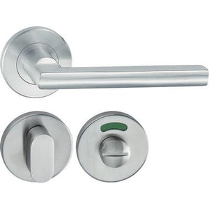 HL10 Lever handle set, stainless steel, WC release and inside turn