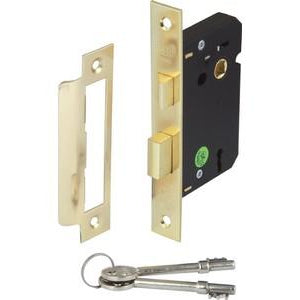 Mortice 3 lever sashlock,45/58 mm backset, 65/78 mm case size