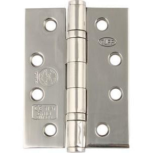 Stainless steel ball bearing butt hinge, 102 x 76 mm, Square corners