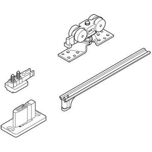 Slido Classic 120-P sliding door fitting set, for 1 door