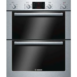 BOSCH Exxcel Built-in double multifunction oven brushed steel HBN53R550B