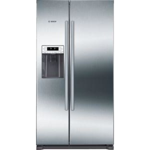 BOSCH American-style fridge-freezer Stainless Steel EasyClean door and grey side panels KAI90VI20G