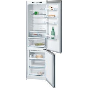 BOSCH No Frost, Fridge freezer Stainless steel look KGN39VL3AG